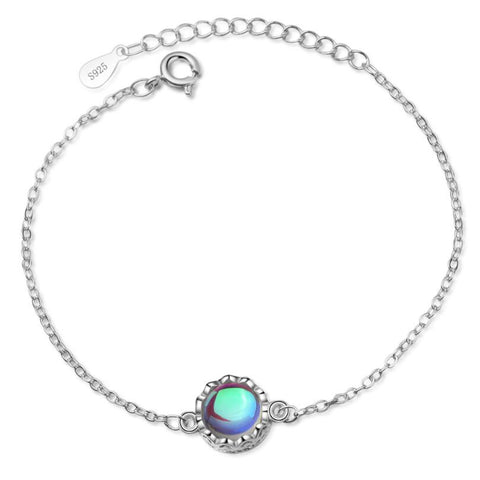 Rainbow Moonstone Colored Crown Bracelet