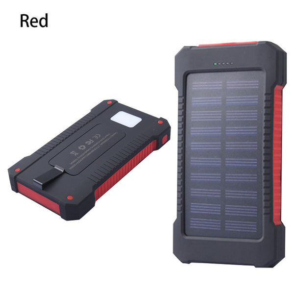 Waterproof Solar Power Bank charger with LED