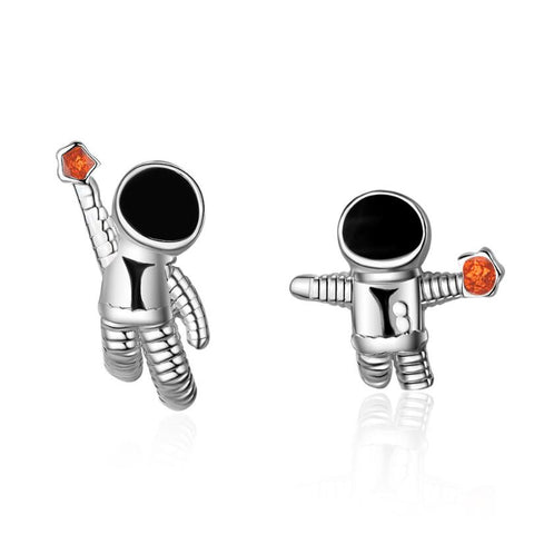 Delicate Astronaut Stud Earrings