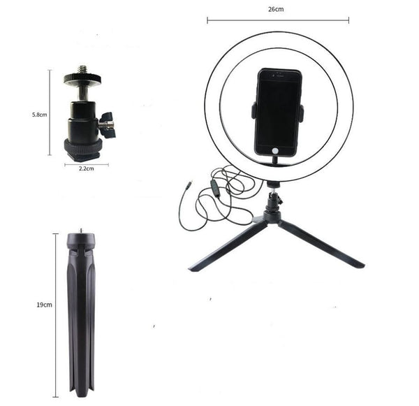 Selfie LED Ring Light with Table Tripod