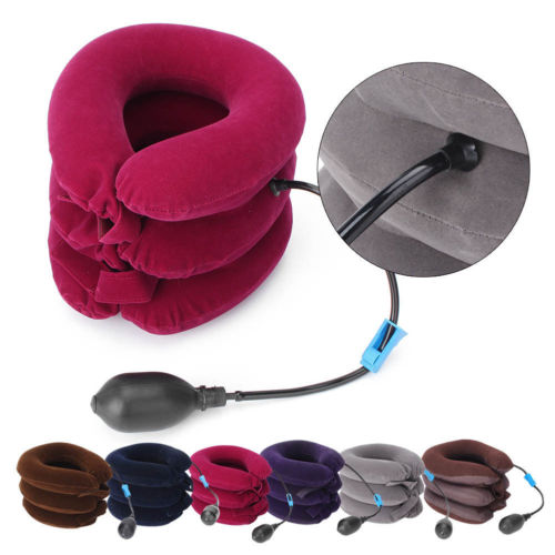 Inflatable Neck Pillow with Pump