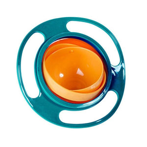 Gyro 360 Rotate Spill-Proof Plastic Bowl
