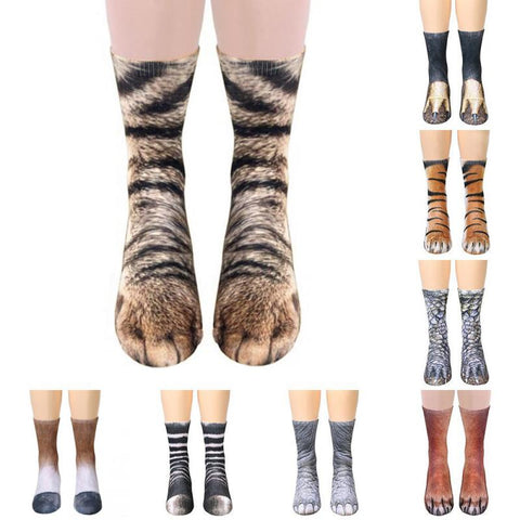 3D Animal Print Socks