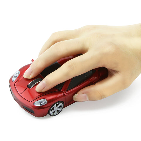 Wireless Optical Sports Car Computer Mouse