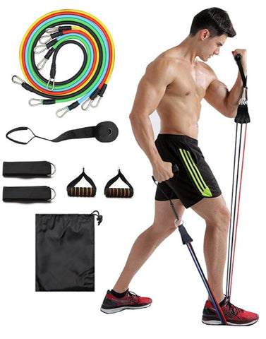 11 PCS Resistance Bands Set