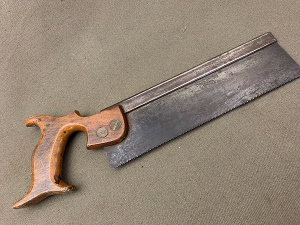 "10"" BACKSAW BY JOHN COCKERILL SHEFFIELD - Boyshill Tools and Treen"