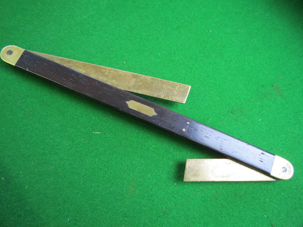 "Pretty 10"" Brass & Rosewood Boat Bevel - Boyshill Tools and Treen"