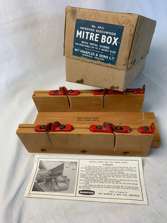 MARPLES MITRE BOX IN BOX VERY LITTLE USE - Boyshill Tools and Treen