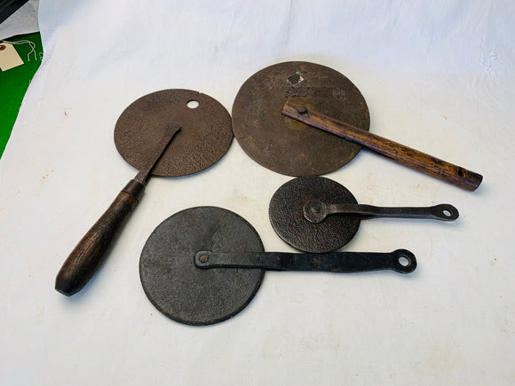 4 ANTIQUE WHEELRIGHTS TRAVELERS - Boyshill Tools and Treen