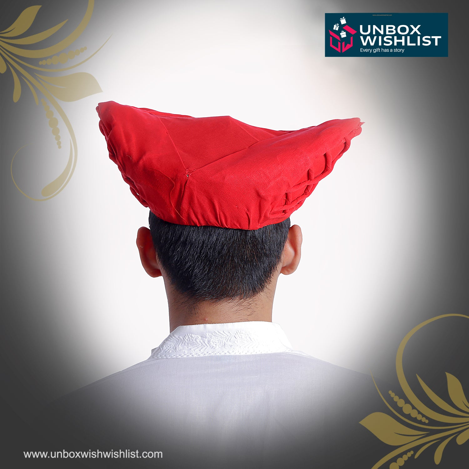 Red Mawla Paghdi / Traditional Maharashtrian Headgear