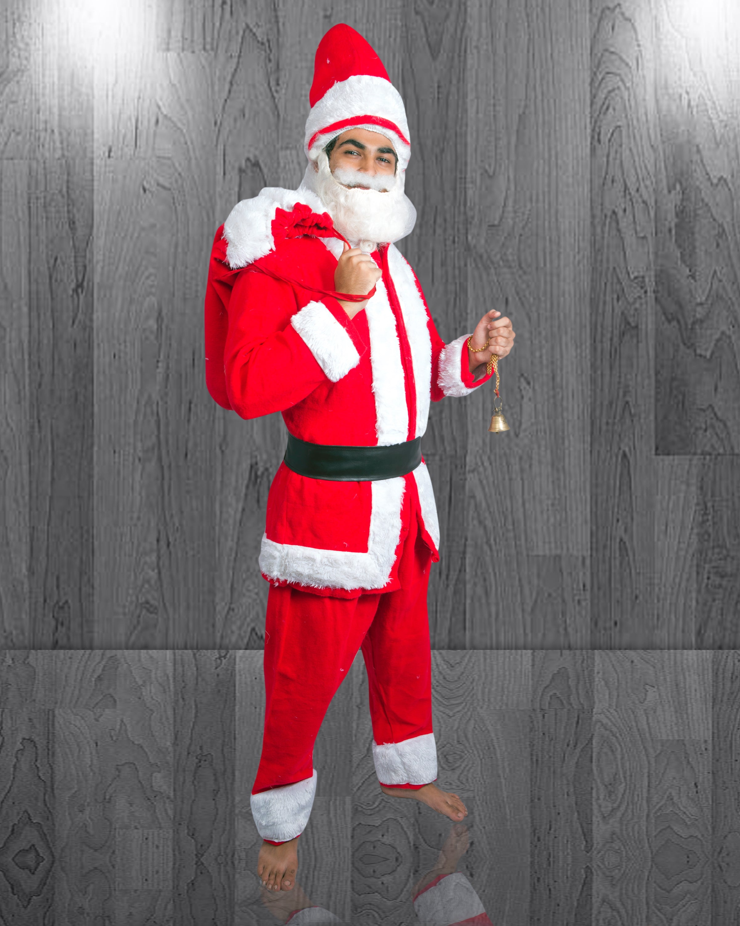 Santa Claus Costume for ADULTS (Free Size)