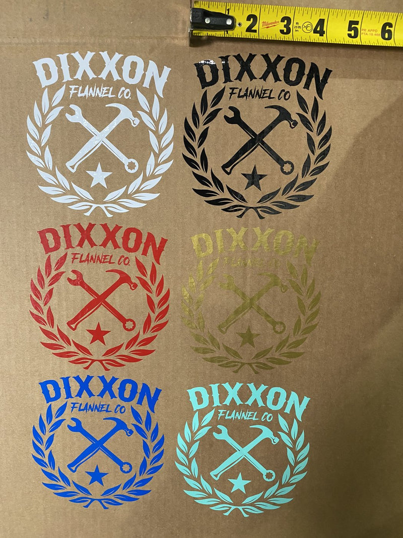 "Crest 5"" DIXXON DIE CUT STICKER - SOLD IN SINGLES ASSORTED"