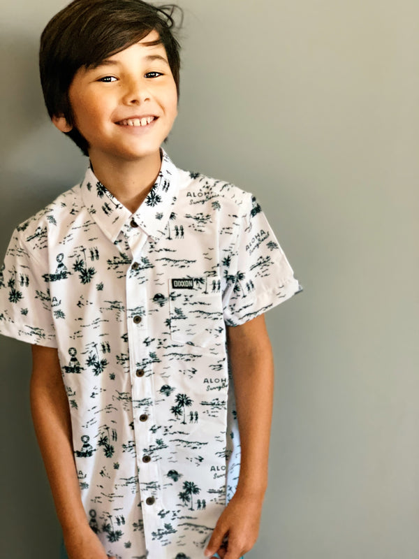 HAOLE BOY SHORT SLEEVE BUTTON UP - YOUTH