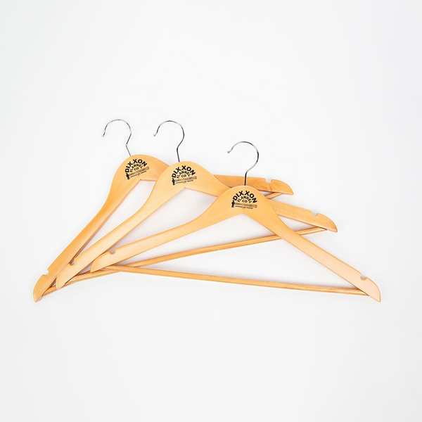 3PK NATURAL WOOD HANGERS TRUSTED