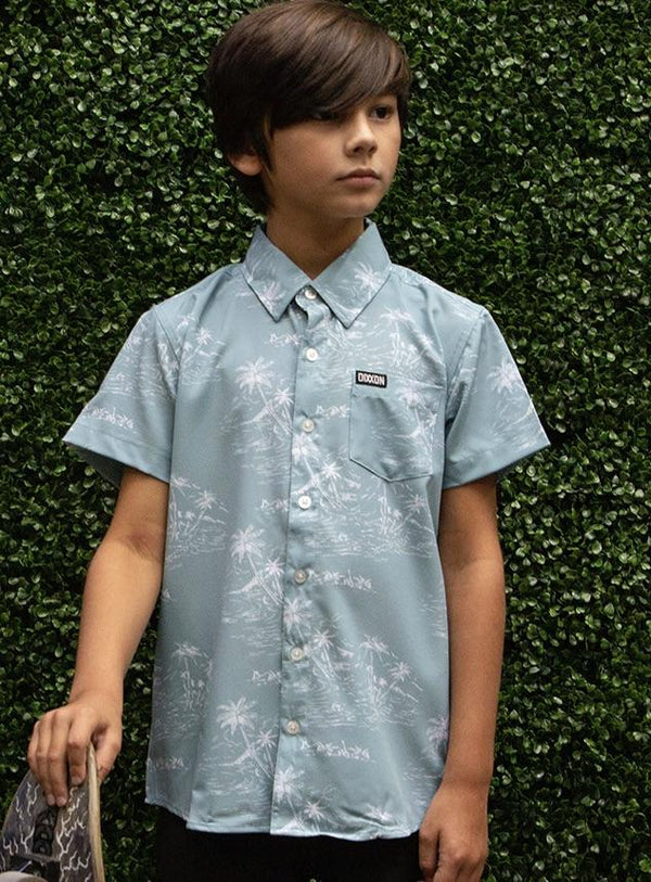 NAPLES SHORT SLEEVE BUTTON UP - YOUTH
