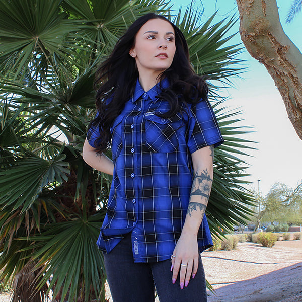 CAPE BAMBOO SHORT SLEEVE BUTTON UP - WOMENS