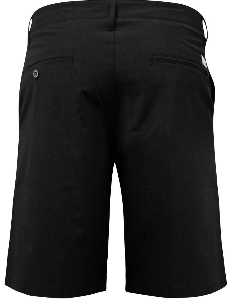 DIXXON HYBRID CHINO SHORTS BLACK BACK