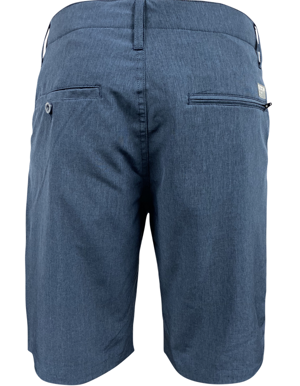 DIXXON HYBRID CHINO SHORTS NAVY BLUE BACK
