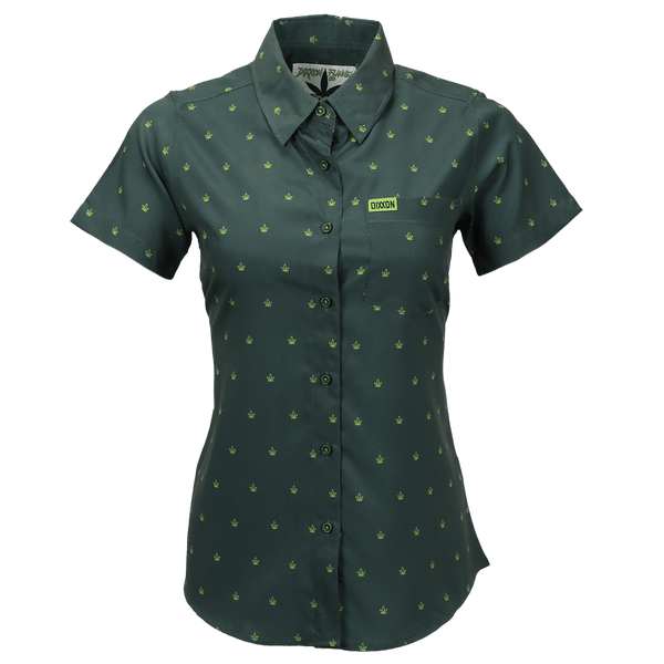 CHRONIC SHORT SLEEVE BUTTON UP - WOMENS