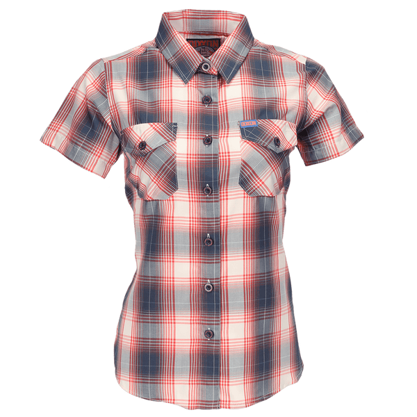 CORAL SEA BAMBOO SHORT SLEEVE BUTTON UP - WOMENS