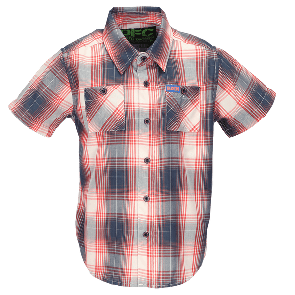 CORAL SEA BAMBOO SHORT SLEEVE BUTTON UP - YOUTH