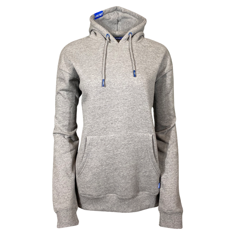 DIXXON PLAIN PERFECT HOODIE HEATHER GREY - WOMENS