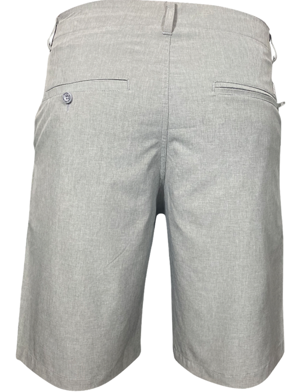 DIXXON HYBRID CHINO SHORTS LIGHT GREY BACK
