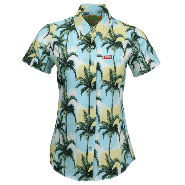 HONOLULU SHORT SLEEVE BUTTON UP - WOMENS