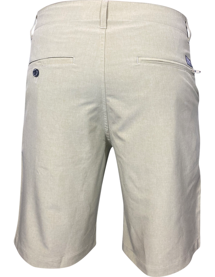 DIXXON HYBRID CHINO SHORTS KHAKI BACK