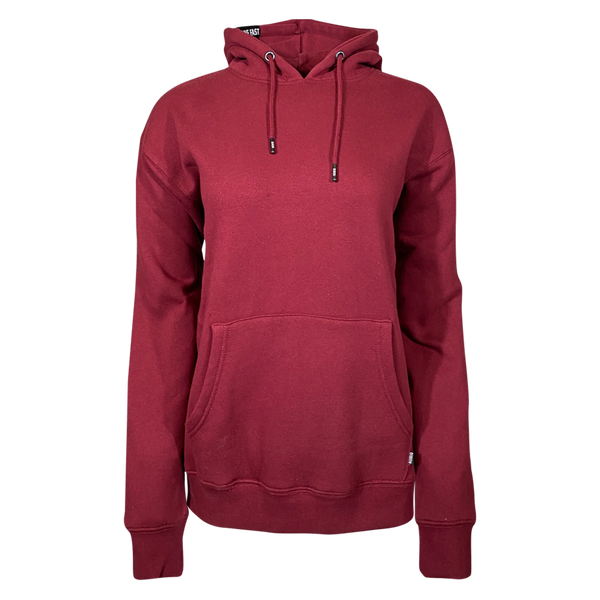 DIXXON PLAIN PERFECT HOODIE BURGUNDY - WOMENS