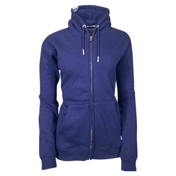DIXXON PLAIN PERFECT ZIP HOODIE NAVY - WOMENS