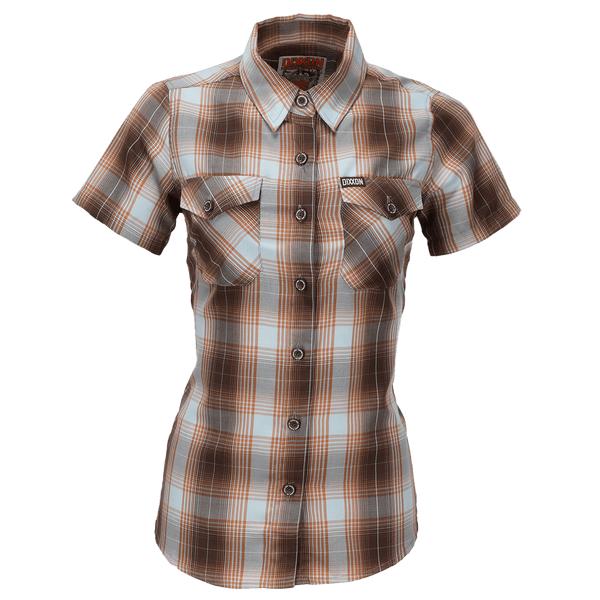PISMO BAMBOO SHORT SLEEVE BUTTON UP - WOMENS