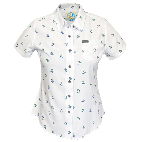 BREEZY SHORT SLEEVE BUTTON UP - WOMENS