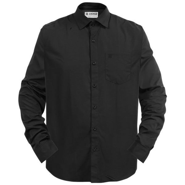 BAMBOO LONG SLEEVE BUTTON UP BLACK 2.0 - MENS