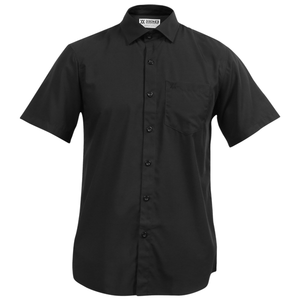 BAMBOO SHORT SLEEVE BUTTON UP BLACK 2.0 - MENS