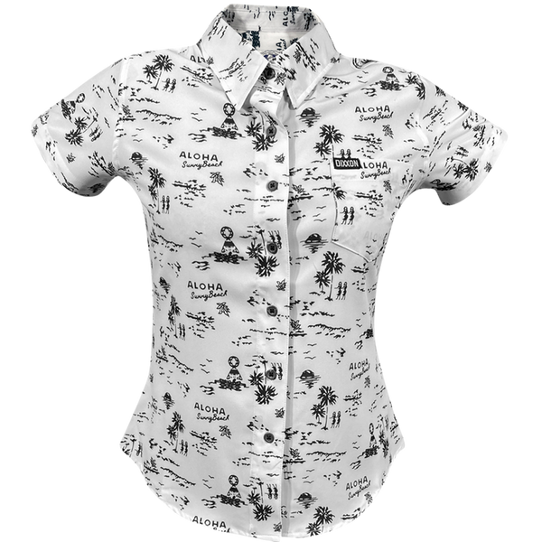 HAOLE BOY SHORT SLEEVE BUTTON UP - WOMENS