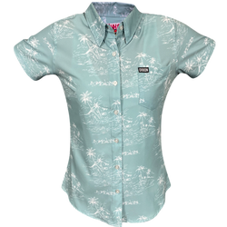 NAPLES SHORT SLEEVE BUTTON UP - WOMENS