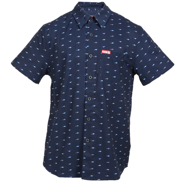SHARK SHORT SLEEVE BUTTON UP - MENS