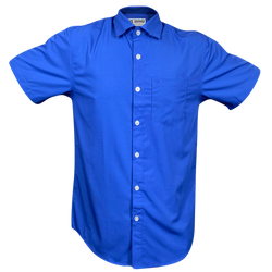 BAMBOO SHORT SLEEVE BUTTON UP TRUE BLUE 2.0 - MENS