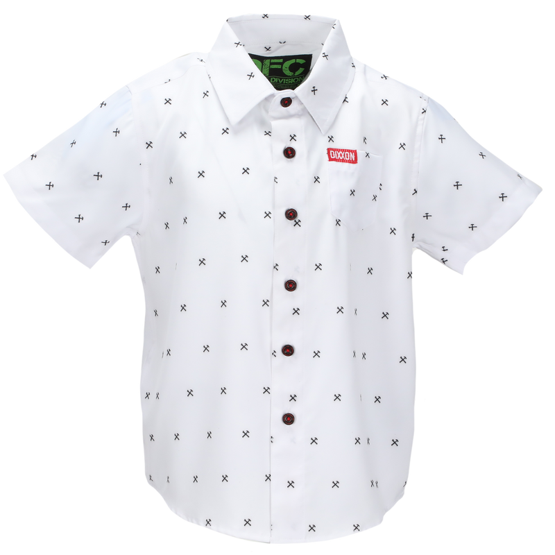 FINNEY WHITE SHORT SLEEVE BUTTON UP - YOUTH