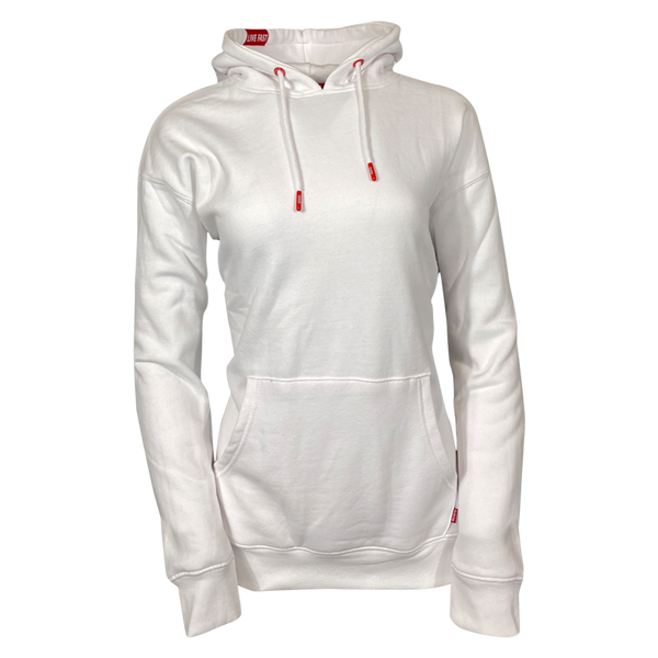 DIXXON PLAIN PERFECT HOODIE WHITE - WOMENS