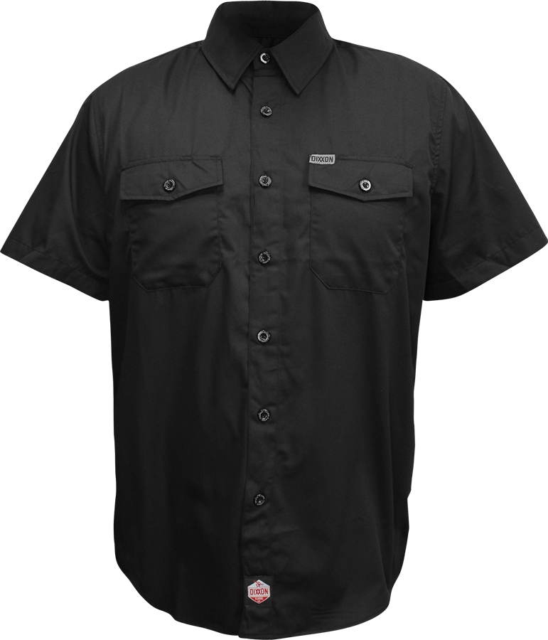 DIXXON WORKFORCE SS BUTTON UP BLACK