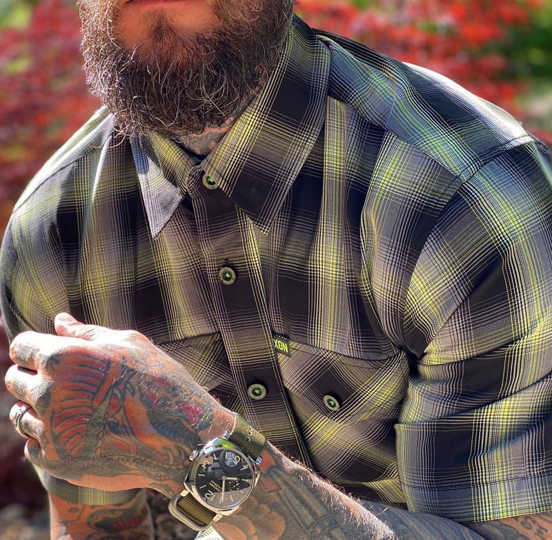 ACE BAMBOO SHORT SLEEVE BUTTON UP - MENS