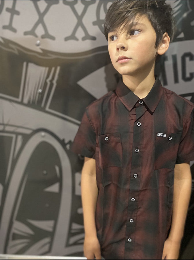 BISHOP BAMBOO SHORT SLEEVE BUTTON UP - YOUTH