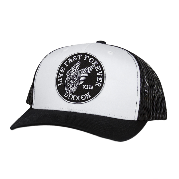 WINGER TRUCKER HAT WHITE/BLACK