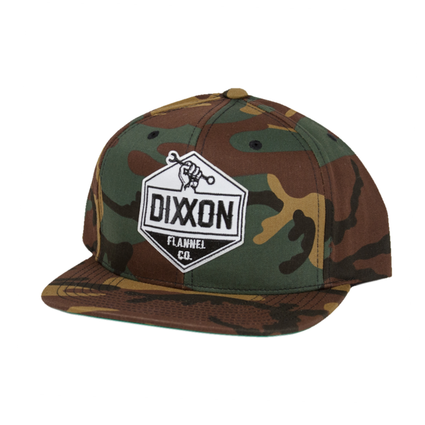 WORKING CLASS SNAPBACK HAT GREEN CAMO