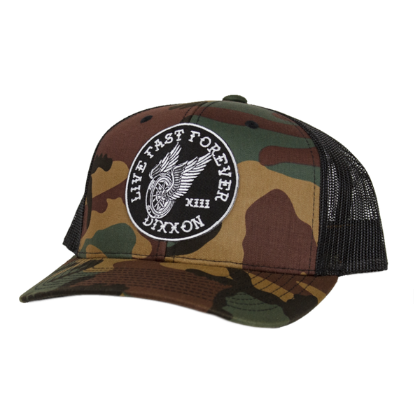 WINGER TRUCKER HAT GREEN CAMO
