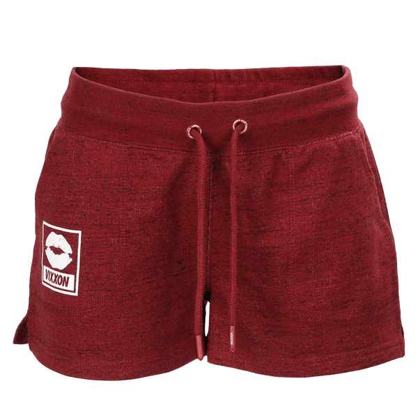 VIXXON TERRY SHORTS HEATHER MAROON - WOMENS