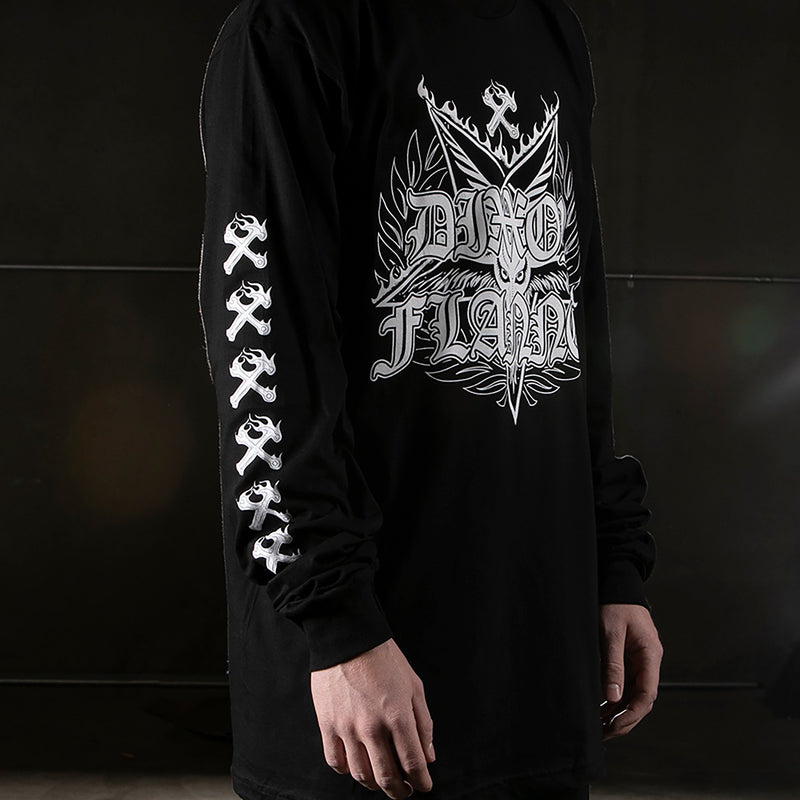 DARK LONGSLEEVE T-SHIRT BLACK - MENS
