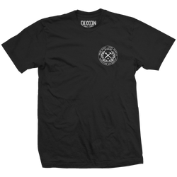 CRESTED T-SHIRT BLACK - MENS